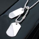 Personalised Dog Tag Pendants